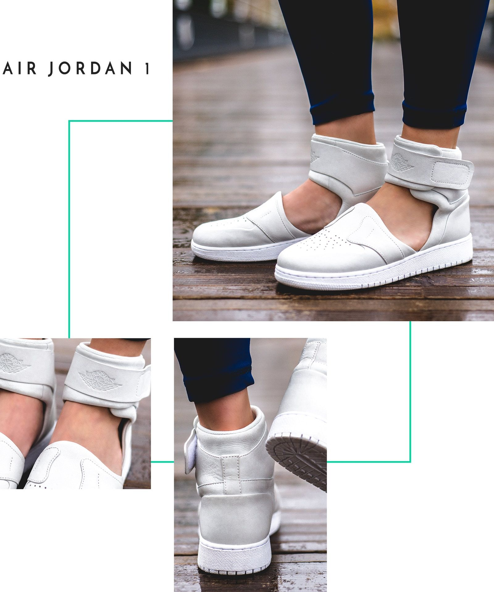 4d3812c5bdf2 Nike The 1 Reimagined Lover XX Air Force 1 Jordan Jumpman Women Female  Design Collective Release Date Where to Buy Closer On Feet Look White Mule  Sandal ...
