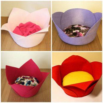 Cama flor para perros camas f ciles para tu mascota - Como hacer una cama para perro ...
