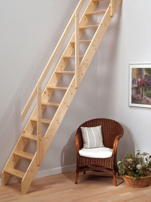 Best Madrid Wooden Loft Stairs Attic Stairs Space Saving 400 x 300