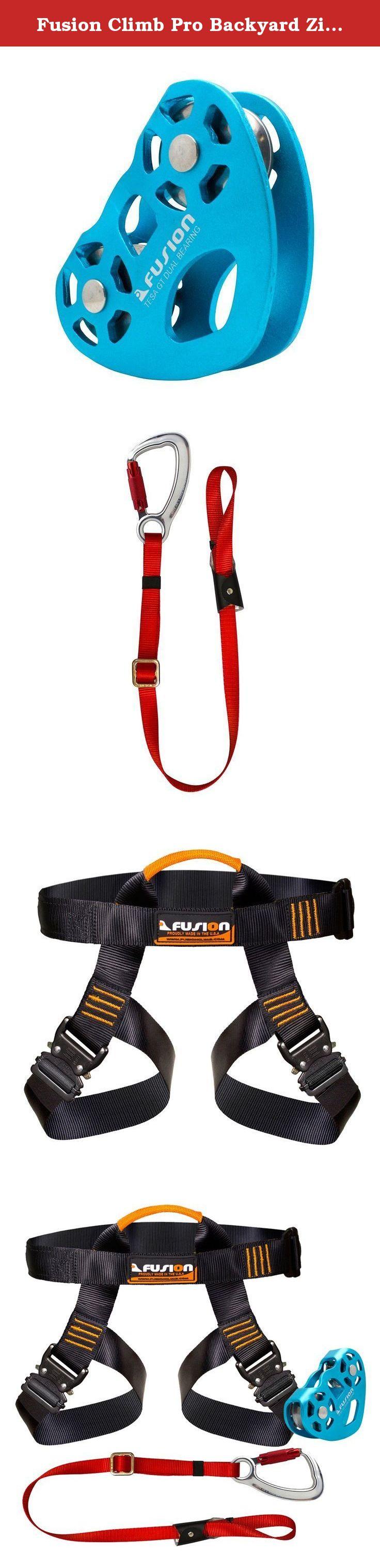 fusion climb pro backyard zip line kit fk a hlt 02 harness lanyard