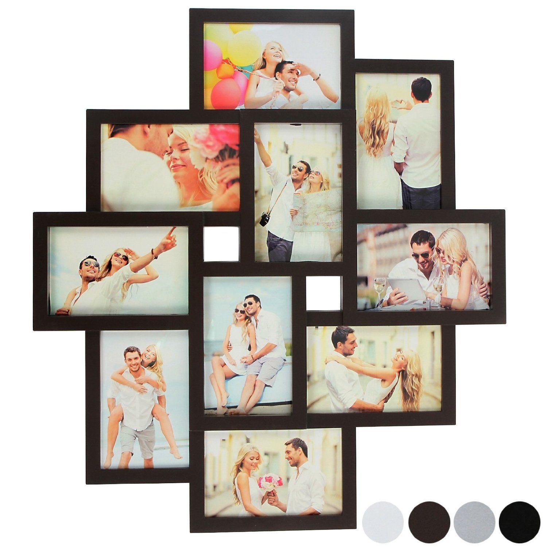 Jago - Marcos para 10 fotos marrones con diseño collage   Decoración ...