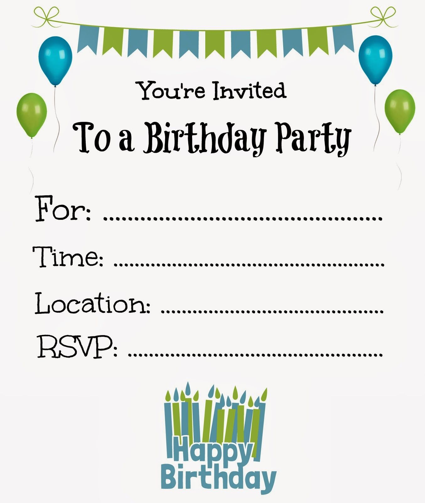 I just finished designing some more Free Printable Birthday invites ...