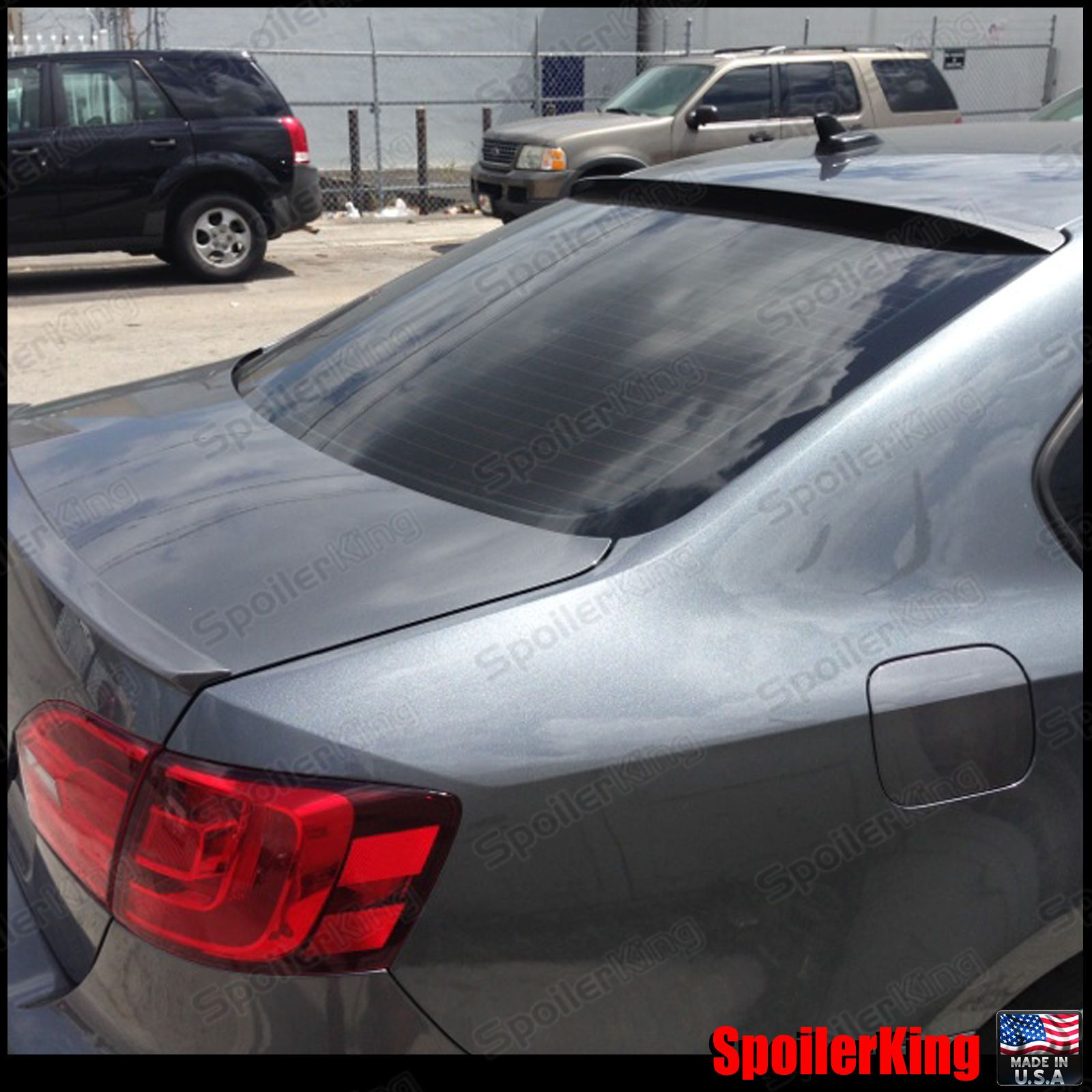 Nice Awesome Rear Roof Spoiler Window Wing (Fits