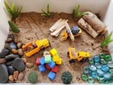 Construction Sensory Kit/Sensory Toy/Sensory Play/Construction Sensory Bin/Toddler Sensory Bin/Montessori/Construction Kit/Construction Part