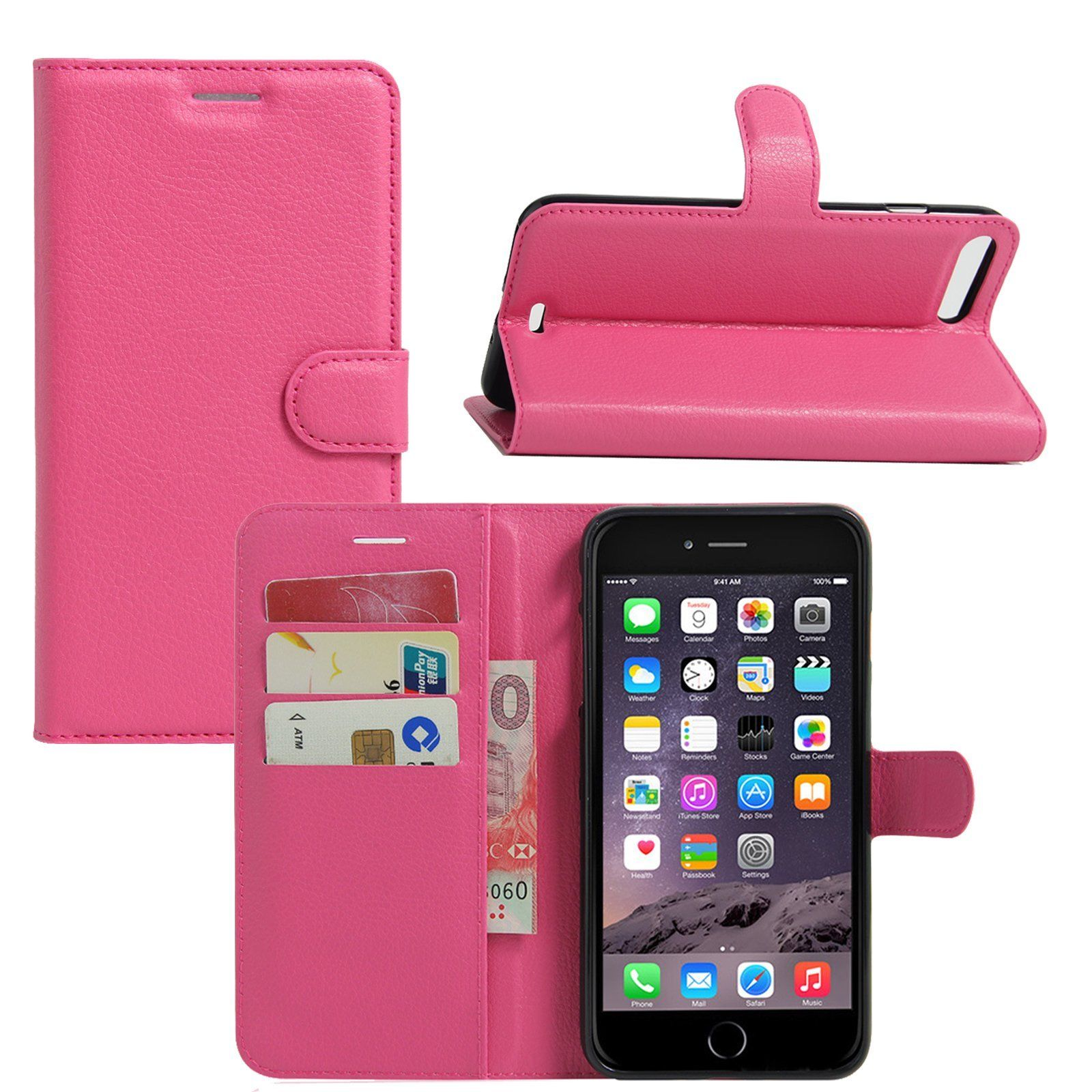 size 40 38152 42be0 Details about New PU Leather Flip Case Card Slot Wallet Stand Pouch ...