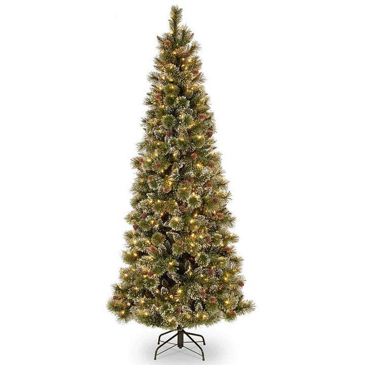 NATIONAL TREE CO National Tree Co 7 1/2 Foot Glittery Bristle Slim