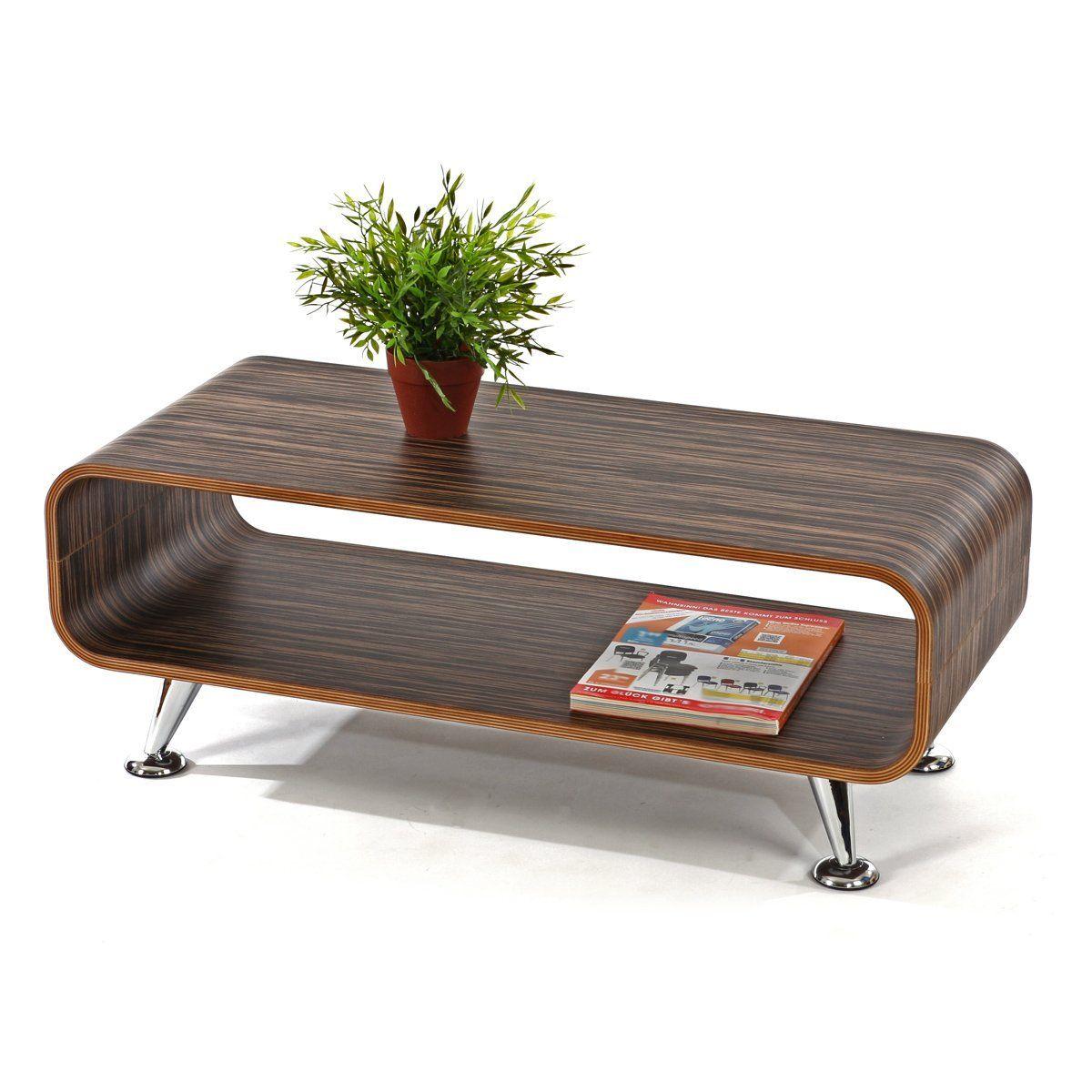 Club TV Rack Fernsehregal Retro Lounge Tisch Mbel Rega Holz Dunklel Gestreift Amazonde