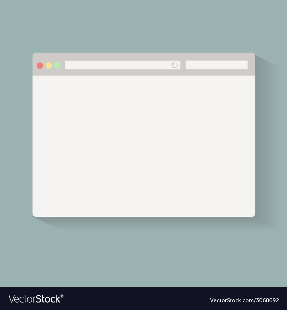 Simple Browser Window On Blue Back Ground Vector Image Aff Window Browser Powerpoint Background Design Simple Powerpoint Templates Graphic Design Fun
