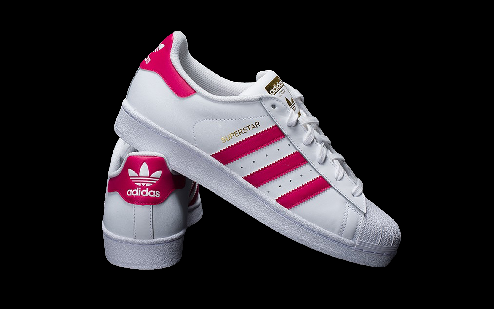 ADIDAS TENIS SUPERSTAR FOUNDATION BLANCO / ROSA | Adidas ...