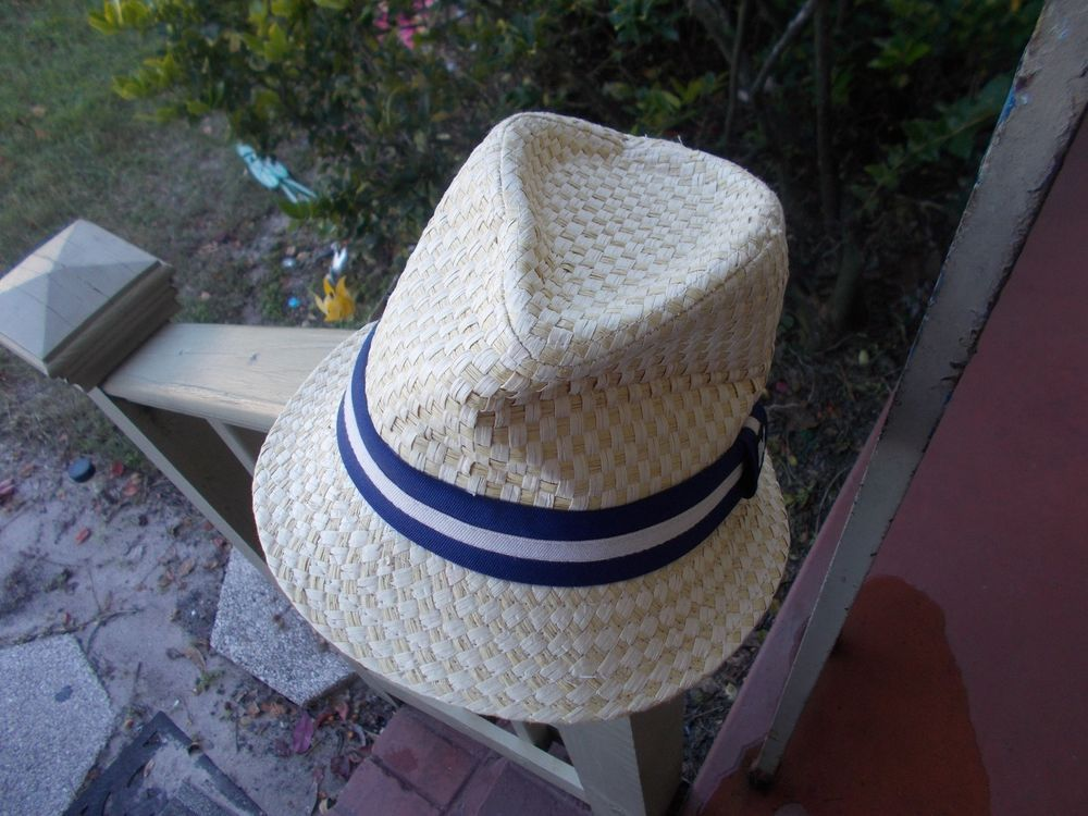 681c9782 KENNY K FEDORA HAT Straw M with band #fashion #clothing #shoes #accessories  #mensaccessories #hats (ebay link)