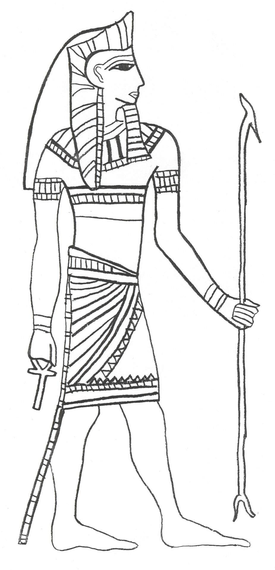 Egyptian Coloring Pages Sarcophagus