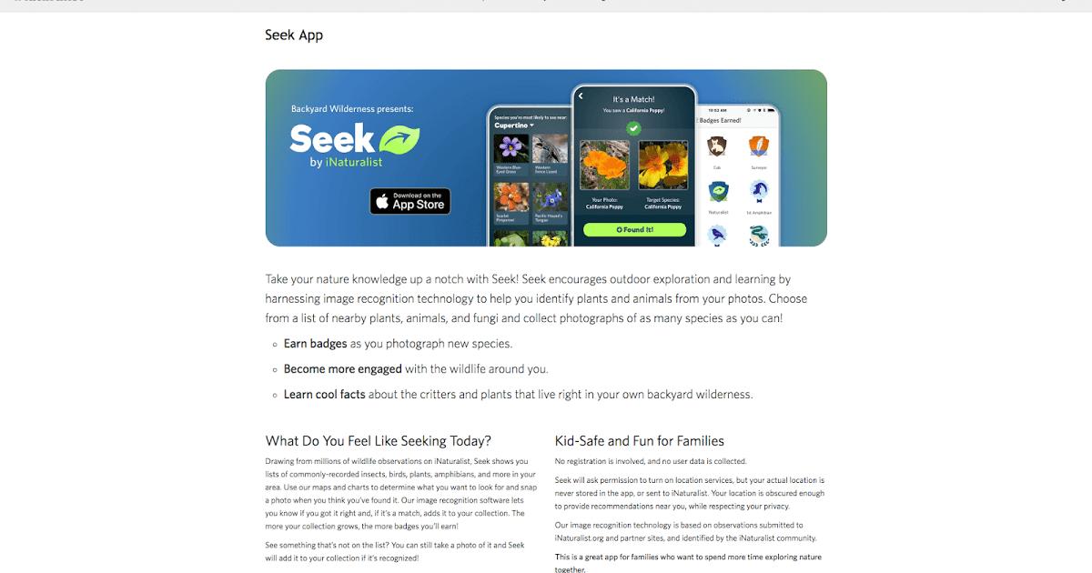 Seek es una aplicación disponible para iOS y creada por
