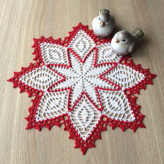 Centrotavola Natalizi Alluncinetto.Christmas Crochet Doily Uncinetto Natalizio Uncinetto Natalizio