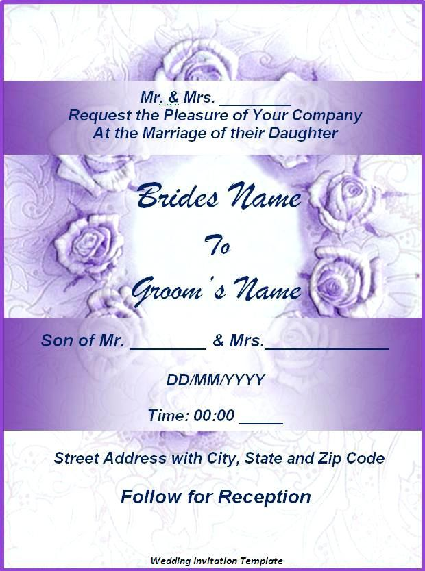 Wedding Invitation Card Template Free Download Verbeco Sample Wed