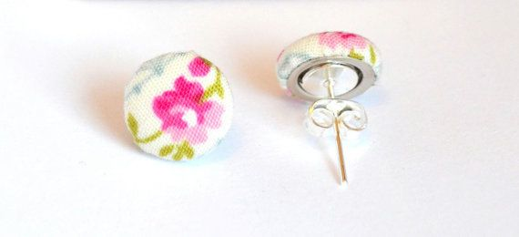 Pink & Blue Rose Earrings by AdventuresTea and Parties, £6.50