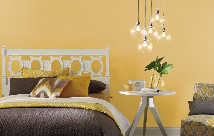 Color Of The Month Lemon Burst Colorfully Behr Yellow Bedroom Paint Bedroom Decor For Couples Behr Paint Colors Yellow Lemon yellow room paint color