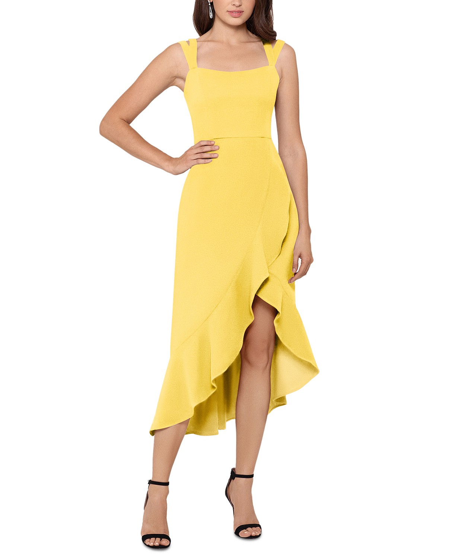 Yellow Summer Dresses Yellow Wedding Guest Dresses High Low Midi Dress Yellow Dress Summer [ 1500 x 1230 Pixel ]