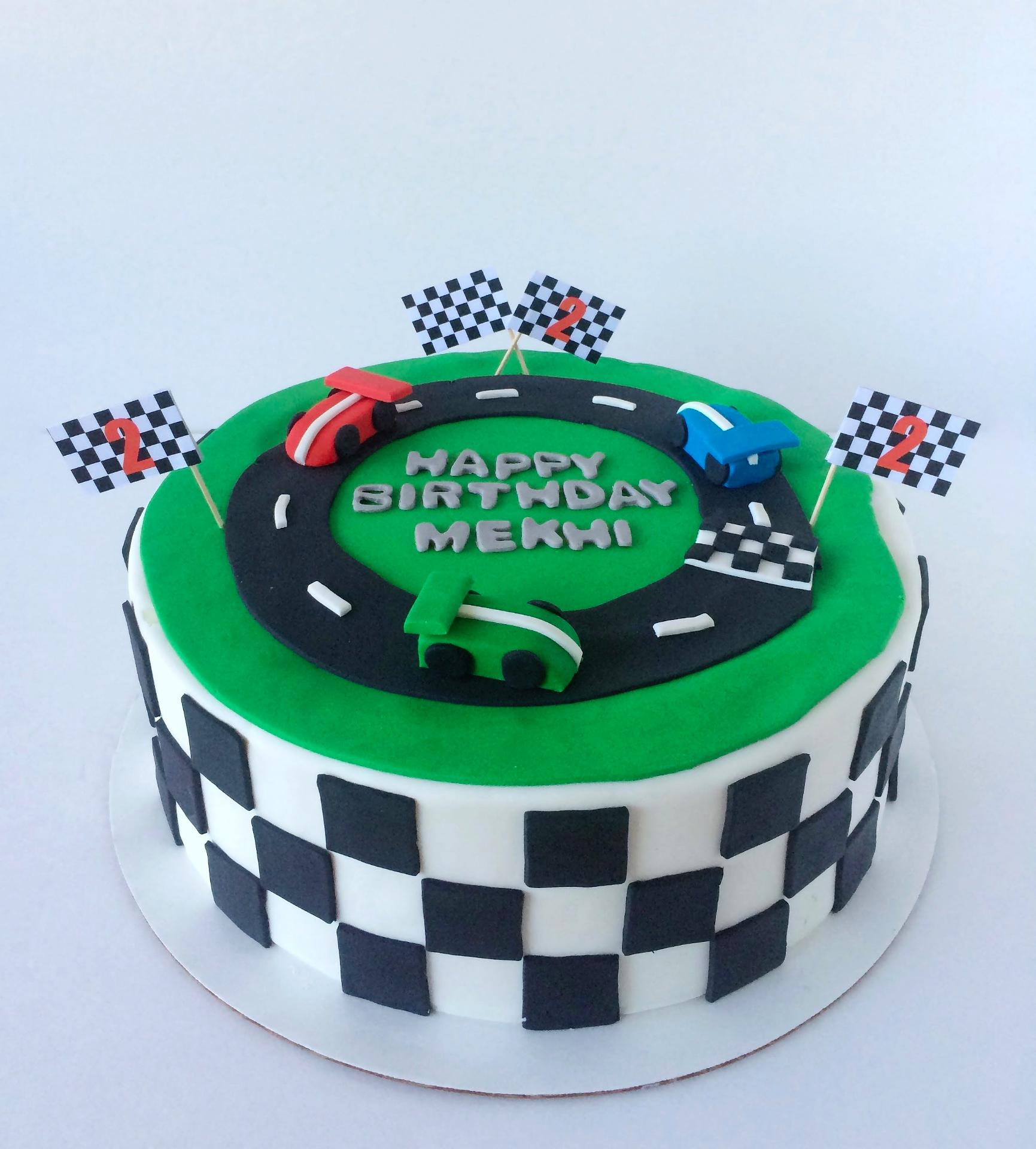 Ready, Set, GO!!! Race Track Cake