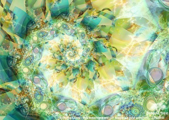 Oceanix  ACEO abstract fractal art print  25x35 by DreamTree, $5.00