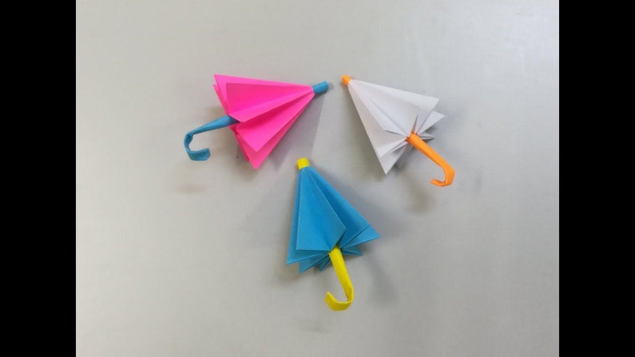 عمل شمسية جميلة بالورق صنع شمسية من الورق اشغال يدوية Origami Handmade Clock