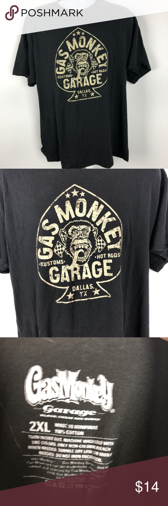Gas Monkey Garage Men's T-shirt Size 2XL Black DD4 Gas Monkey Garage Men's T-shirt Size 2XL Black DD4   24 inches armpit to armpit 29 inches in length from seam to hem on back Gas Monkey Garage Shirts Tees - Short Sleeve #gasmonkeygarage Gas Monkey Garage Men's T-shirt Size 2XL Black DD4 Gas Monkey Garage Men's T-shirt Size 2XL Black DD4   24 inches armpit to armpit 29 inches in length from seam to hem on back Gas Monkey Garage Shirts Tees - Short Sleeve #gasmonkeygarage