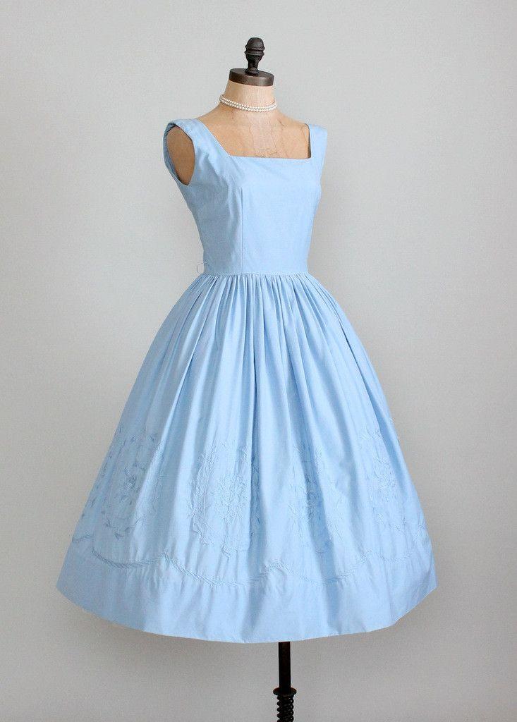 ~Vintage 1950s Jerry Gilden cotton garden party dress~