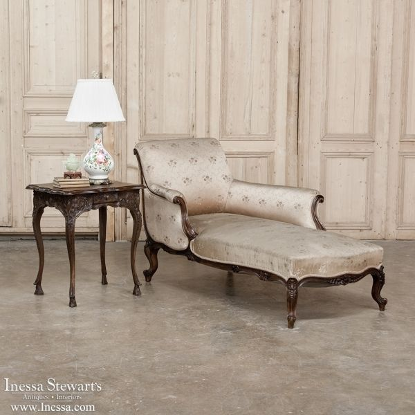 Inexpensive Antique Furniture: 19th Century Baroque Chaise Longue