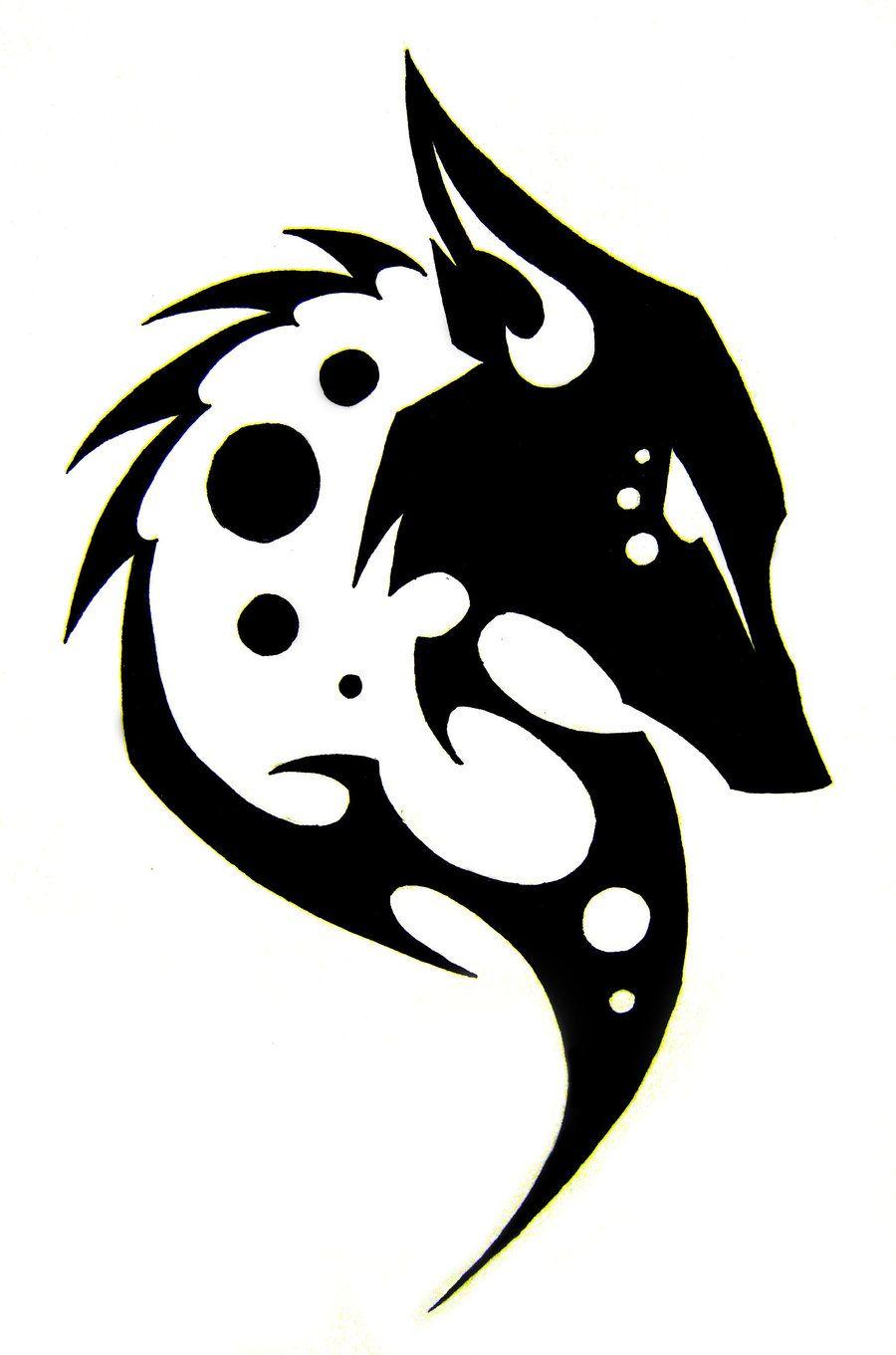670997bba simple tribal wolf tattoo - Google Search | tattoos | Tribal wolf ...