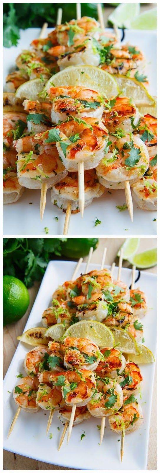 Cilantro Lime Grilled Shrimp Food Recipes Food Cooking Recipes
