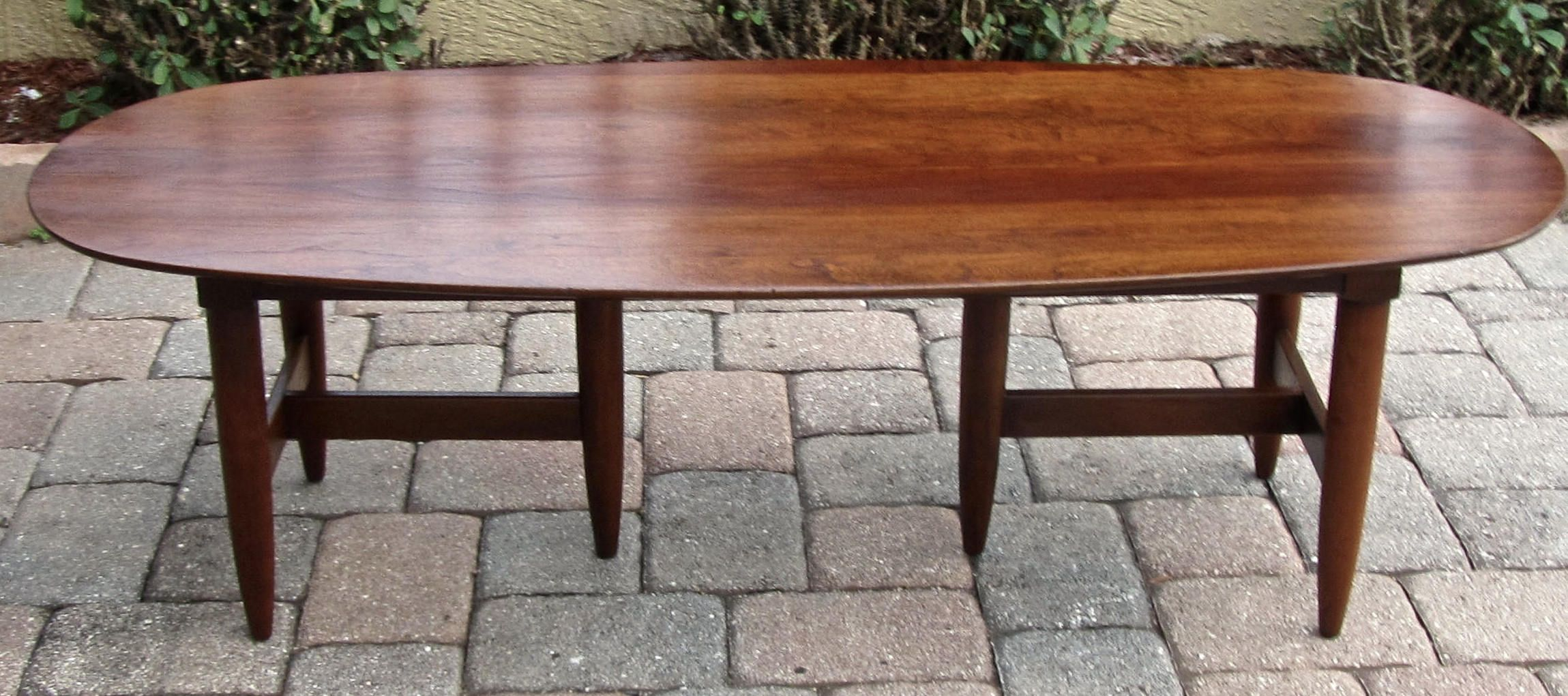 Mid Century Willett Solid Cherry Coffee Table By Artifactsrevival On Etsy Cherry Coffee Table Oval Coffee Tables Coffee Table