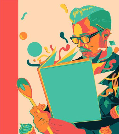 Cocina y lectura (Ilustración de Matt Taylor)