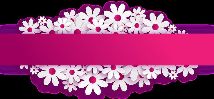 Banner Plaat Bord Bloemen Desain Banner Ilustrasi Vektor Bunga