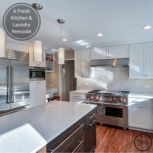 Kitchen Cabinets Naperville: A Fresh Kitchen & Laundry Remodel