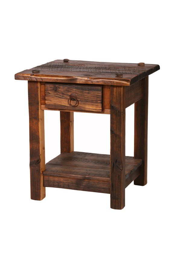 Rustic Nightstand Heritage Nightstand Reclaimed Wood Furniture