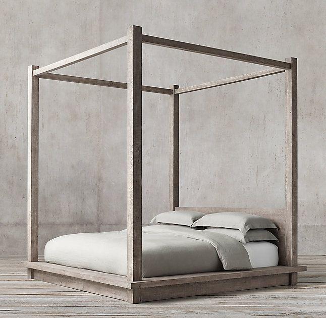 Reclaimed Russian Oak Canopy Bed Platform Bedroom Platform Canopy Bed Canopy Bed