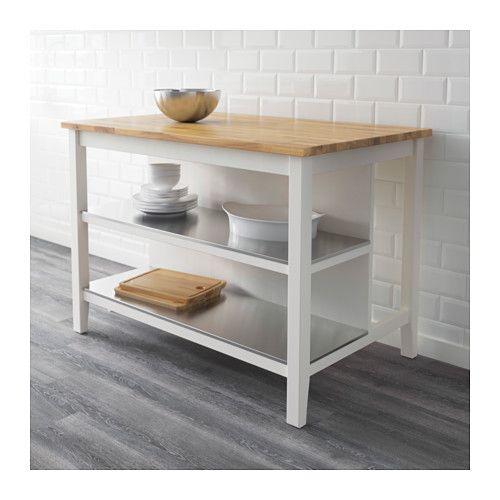 STENSTORP Isola per cucina, bianco, rovere | Neue wohnung, Küche und ...