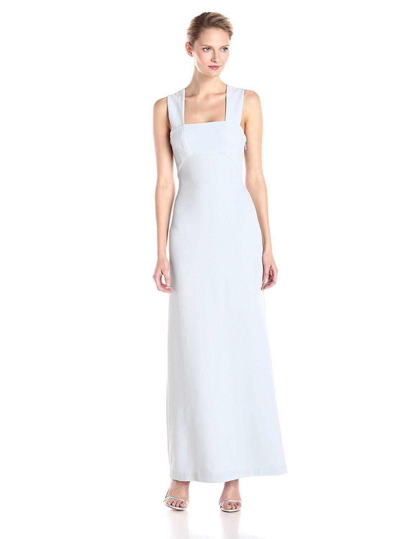 Bcbgmax azria womenus agata sleeveless long gown with vback check