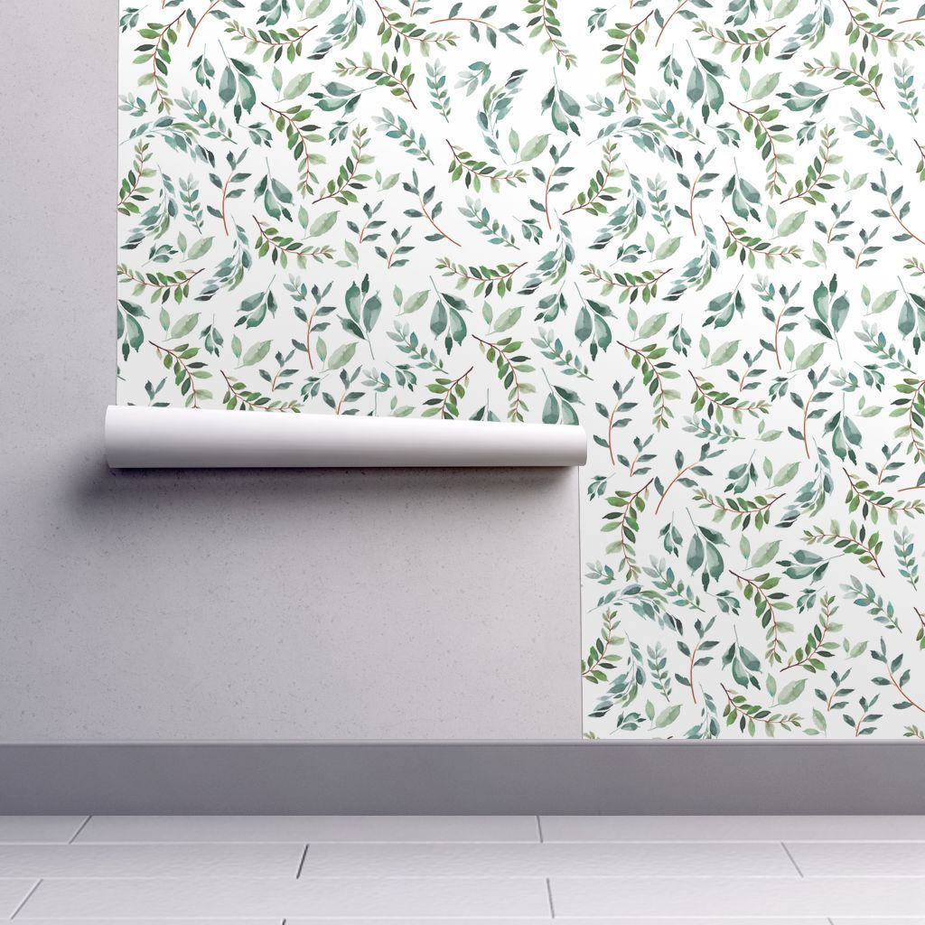 8 Wild At Heart Branches White Spoonflower Wallpaper Peel And Stick Wallpaper Self Adhesive Wallpaper