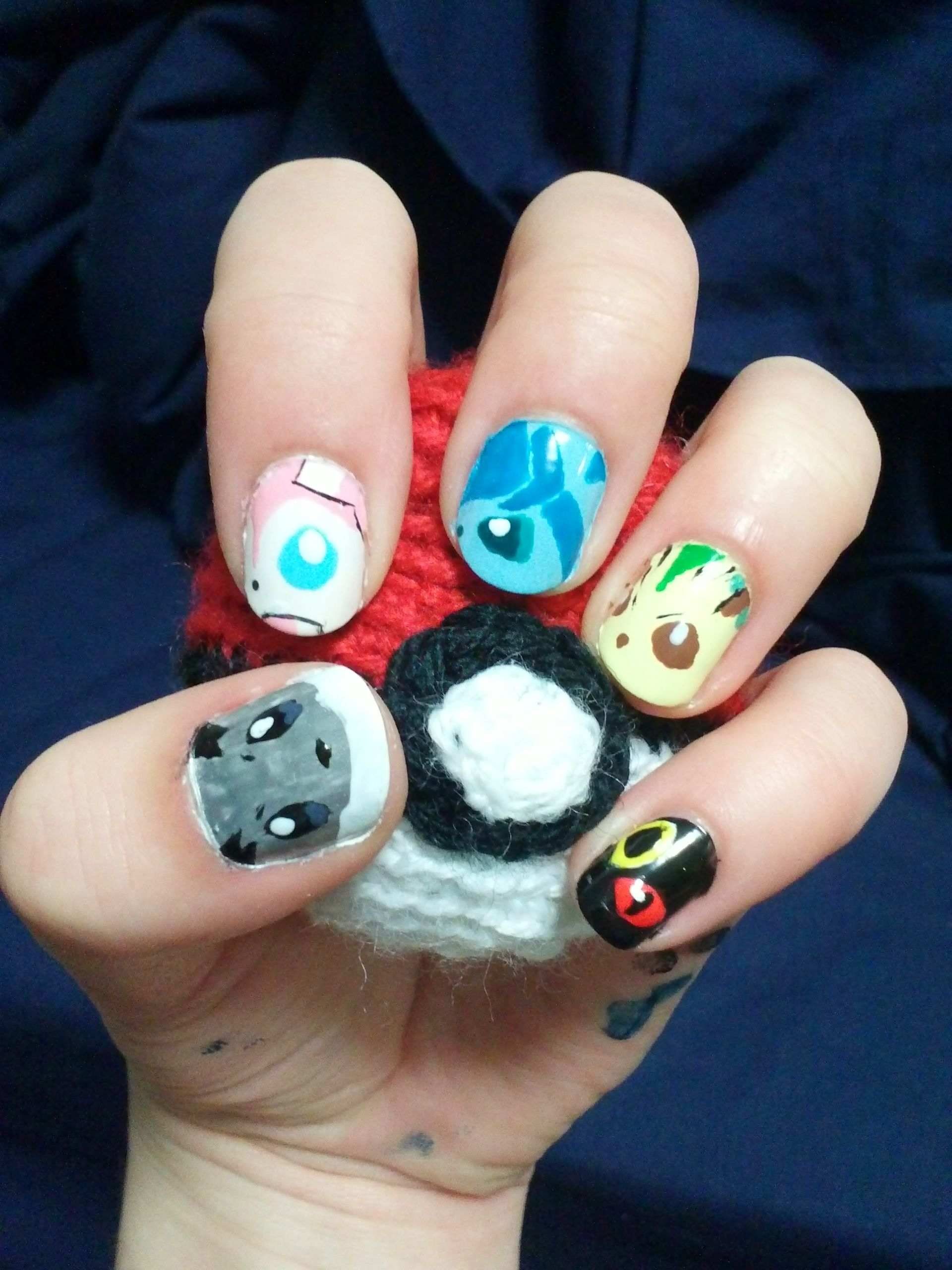 Nail art Pokémon Eeveelutions Part 2 for the left hand. As mentioned ...