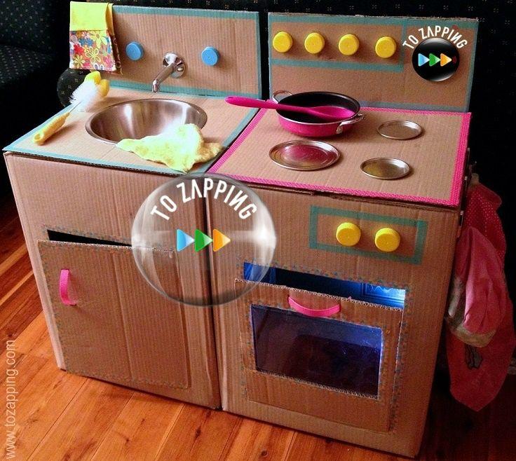 cmo hacer una cocina con cajas de cartn juego de cocina una cocina para