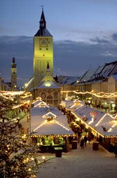 der weihnachtsmarkt in bad kreuz auf dem historischen. Black Bedroom Furniture Sets. Home Design Ideas