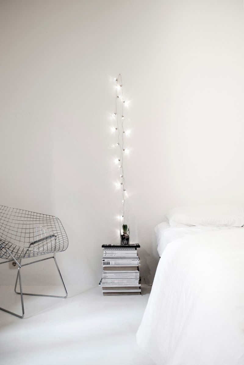 String lights look whimsical no matter where
