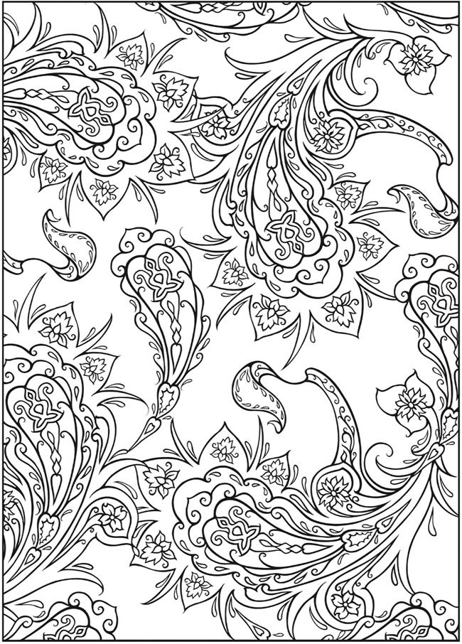 3 D Coloring Book Paisley Designs Welcome To Dover Publications
