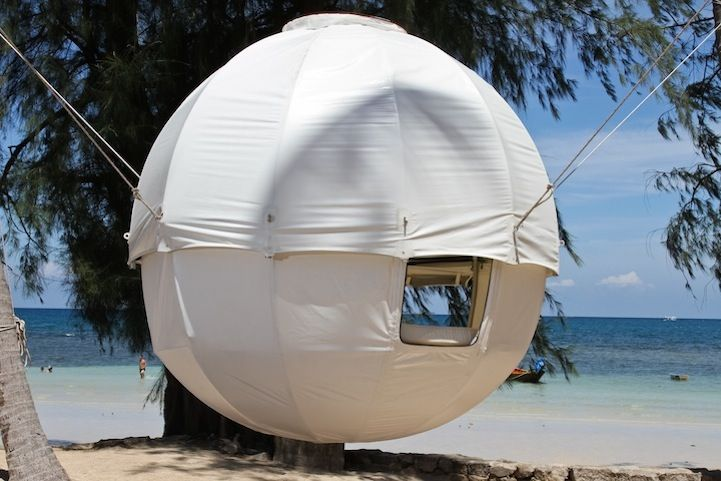 Modern Spherical Tent Floats Among the Trees & Modern Spherical Tent Floats Among the Trees | Tents Tree tent ...