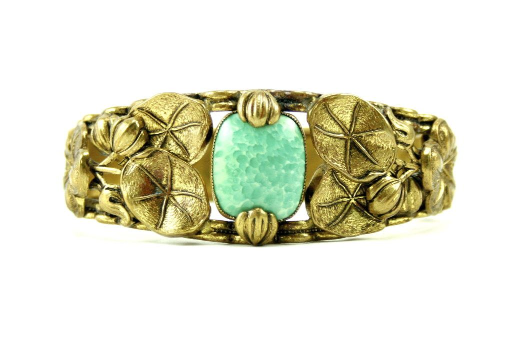 1930'S UNSIGNED LEAF BRACELET | House of Lavande