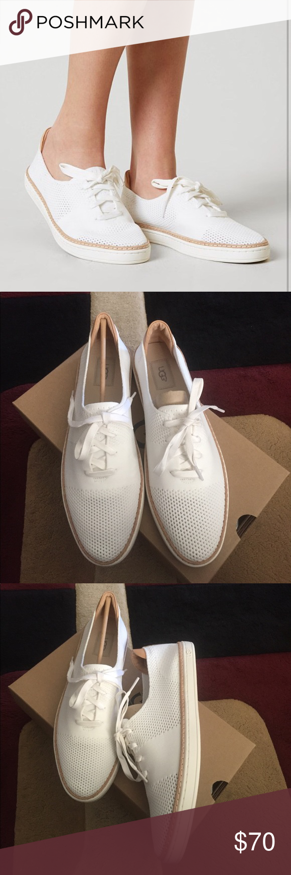 761e6e63ce2 NEW UGG PINKETT WHITE Model: 1016754 Made from a soft spring knit ...