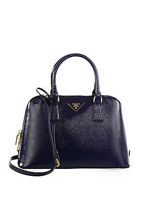Prada Saffiano Vernice Small Promenade Bag