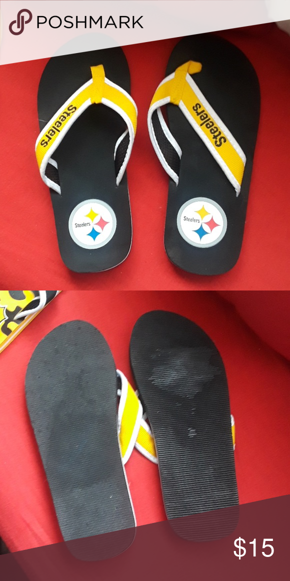 df97d399f6612 Flip flops Pittsburgh Steelers flip flops size 10 new without tag ...