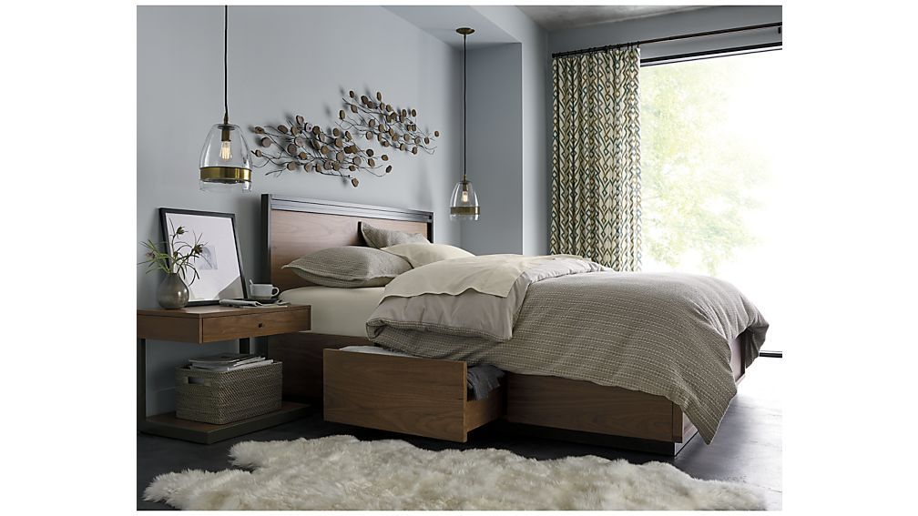 Blair Storage Bed Crate And Barrel King Storage Bed Bed