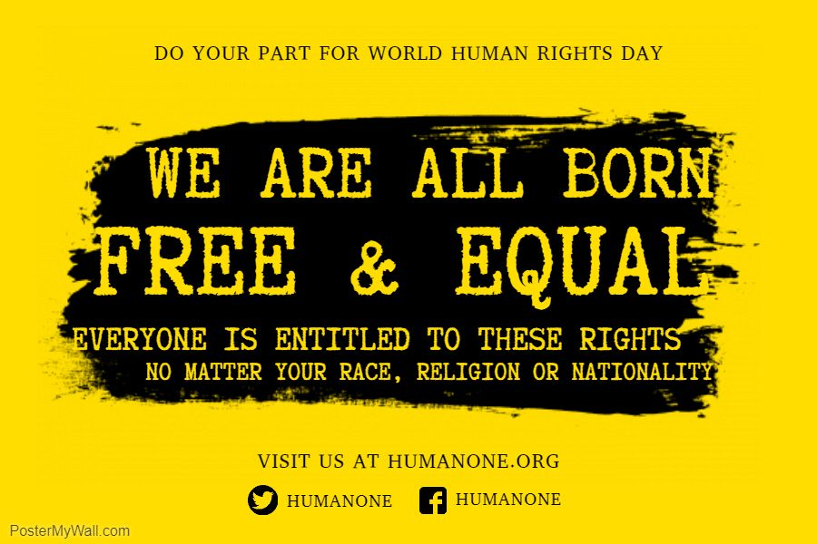 human rights equality propaganda poster template human rights